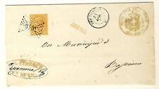 8131- Lazio, Norma, Collettoria+ numerale a punti per Basiano,1877