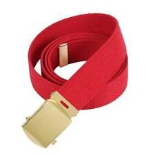 Cintura rossa con fibbia in oro 100% cotone Web Militare Cinture Rothco 4178