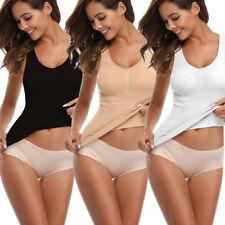 Women Cami Body Shaper Genie Bra ShapeWear Tank Top Slimming BodySuits Corset HS
