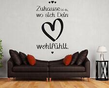 Wandtattoo Zuhause ist da wo sich Dein Herz wohlfühlt Wandtattoo Wohnzimmer a3