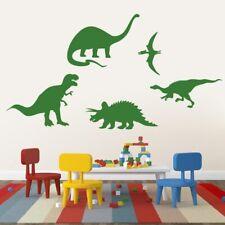Dinosaurs Wall Decal Set - Animals, Kids, Nursery, Playroom, Classroom, Decor