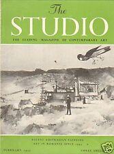 THE STUDIO.AUSTRALIAN PAINTING . ART MAGAZINE FEB 1957