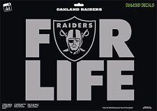 Oakland Raiders Shield For-Life NFL Football Vinyl Decal Car Window Sticker