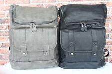 XL  LEDER Rucksack Umhängetasche Schwarz Unitasche Leather Backpack #141