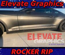 2015-2017 Ford Mustang Rocker Stripe Vinyl Decal Sticker GT 5.0 Coyote Racing