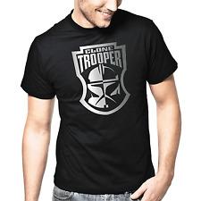 Star Wars Art Klonkrieger Clone Trooper Stencil Silber Metallic Druck T-Shirt