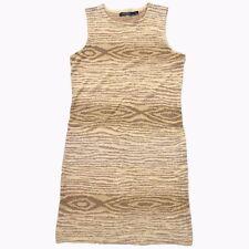 $198 Ralph Lauren Indian Blanket Sleevless Textured Print Linen Dress M L XL XXL