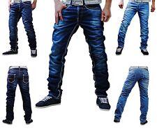 Japline Jeans Herren Hose versch. Modelle Dicke Naht Kontrast Style Clubwear