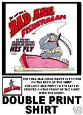 BAD ASS JACK ASS FISHERMAN FISHING FUNNY T-SHIRT BA3D