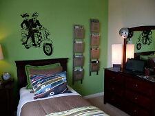 Vespa  Bedroom Wall Art Mural Decal Sticker UK Seller custom size available