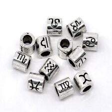 Zodiac Sign Beads Design Spacer Beads Fit Charm Bracelet European Charm Big Hole