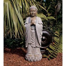 Inspirational Tranquility Buddha on Lotus Meditation Sculpture Garden Statue