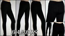 Damen Leggings Hose Jeggings Tregging.Schwarz.Bambus.Gr.S;M;L;XL;2XL;3XL;4XL;5XL