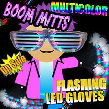 Light Up LED BOOM Flashing Gloves Hip Hop Dance Party Lights - Flashing FUN!