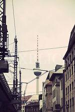 Berlin Fernsehturm Vintage Wandbild Leinwand Poster Aluminium Forex Acrylglas