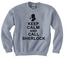 "SHERLOCK HOLMES  ""KEEP CALM AND CALL SHERLOCK"" SWEATSHIRT NEW"