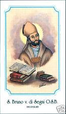 SANTINO HOLY CARD SAN BRUNO VESCOVO DI SEGNI