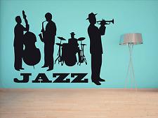 Jazz Banda de música adhesivo pared Pegatina Vinilo Decoración Pared Adhesivo