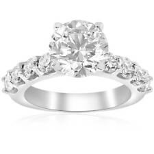 3 carat Enhanced Diamond Engagement Half Eternity Ring 14K White Gold Solitaire