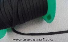2/5/10/20 m Ruban Lacet jersey 8mm gris/vert très foncé couture mercerie jogging