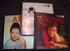 lot 3 boxed volume Opera records Carmen , Aida, Madam Butterfly