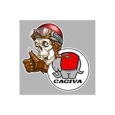 Sticker CAGIVA left skull gauche