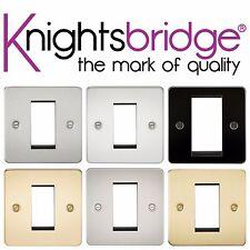 Knightsbridge Piastra Piatta 1G 1 Gang Modulare Placca Presa Interruttore