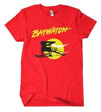 Baywatch Logo T-shirt film serie culto Hasselhoff Gonna Spiaggia Lifeguard Fun