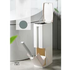 Bathroom Toilet Luxury Integrated Trash Can Dustbin Waste Bin Cleaning Brush Set