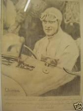 Louis Chiron/Autorennfahrer um 1925.Mit Buggati;Typ 35.