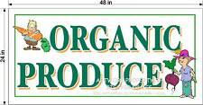 ORGANIC PRODUCE    2' X 4' VINYL BANNER NEW  FUN DESIGN