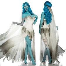 Corps Bride 3 tlg. Kostüm Braut Leiche Geistkostüm Halloween Geist Kleid 34-46