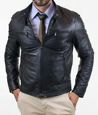 US Men Leather Jacket Hommes veste cuir Herren Lederjacke chaqueta de cuero Q47
