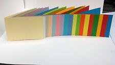 100x Blanko-Karten DIN A6 Klappkarten in vielen Farben 220-240g//m²
