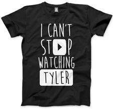 No puedo dejar de ver Tyler-vlogger Star youtubers T-Shirt muchos Tamaños