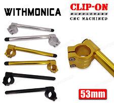 CNC 53mm Clipons Clip-On Handlebar Racing For Ducati 749/999 2003 2004 2005 2006