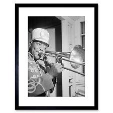 Music Photo Portrait Jazz Trombone Legend Sandy Williams Framed Print 9x7 Inch