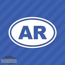 Arkansas AR Oval Vinyl Decal Sticker