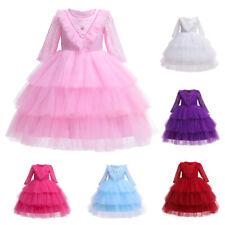 Lace Baby Flower Girls Formal Dress Christening Wedding Party Gown Birthday Tutu