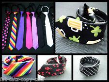 Da Uomo Novità Moda Fiocco in Raso Stile Cravatta 10 COLORI Irish Trifoglio MACCHIE UK