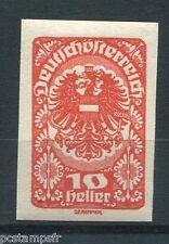 AUTRICHE, 1919, timbre 208, ARMOIRIES, non dentelé, neuf*