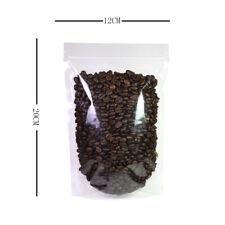 12x20cm TRANSPARENT fermeture Zip Sacs Support Pochette senteurs GRATUIT