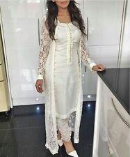 Punjabi churidar suit Bollywood Designer Indian lace net SALWAR KAMEEZ partywear