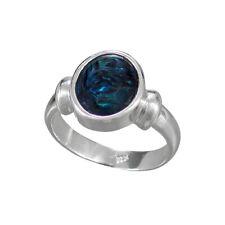 Schmuck-Michel Damen Ring Silber 925 Paua-Muschel  - Gr. 50-65 wählbar (3710)