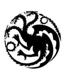 Vinyl Decal Truck Car Sticker Laptop - Game Of Thrones House Targaryen