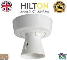 White Lampholder Ceiling Batten Holder T2 Pre Wired BC ***HILTON***
