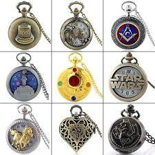 Necklace Retro Pendant Gifts New Vintage Antique Quartz Steampunk Pocket Watch