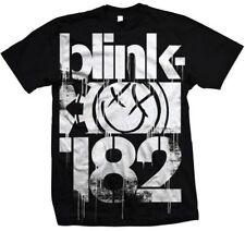 Blink 182 3 Bars Logo Smiley Rock Pop Punk Music Adult T Tee Shirt BL704204