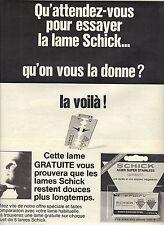 PUBLICITE  1968     SCHICK    lame de rasoir