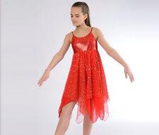 Stunning Sparkle Red Lyrical Dress Dance Costume All Sizes